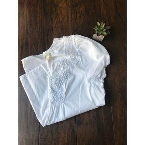 Anthropologie cotton edme & esyllte top
